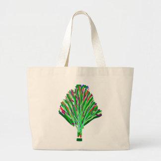 GREEN theme TREE artistic symbol environment cause Canvas Bag