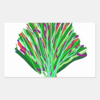 GREEN theme TREE artistic symbol environment cause Rectangular Sticker
