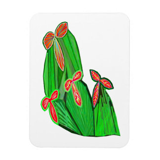 Green Theme Water Colors - CACTUS Cacti Rectangle Magnet
