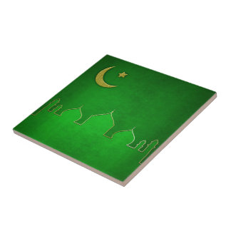 Green Themed Mosque - Tile