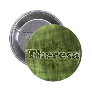 Green Theresa 6 Cm Round Badge