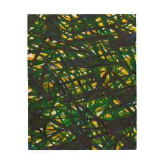 Green Thicket II Wood Print
