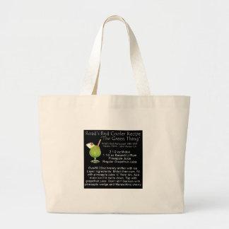 Green Thing Recipe Jumbo Tote Bag