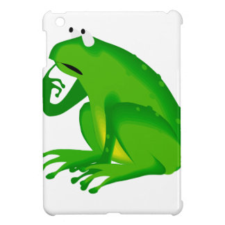 Green thinking frog iPad mini case