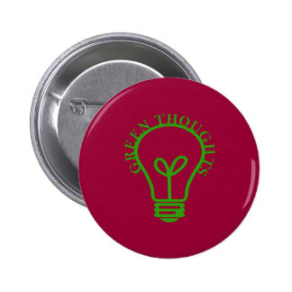 Green Thoughts Pinback Button