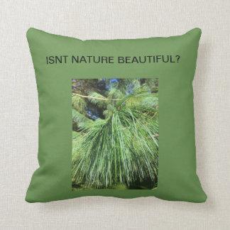 green throw cushion photo image pine tree