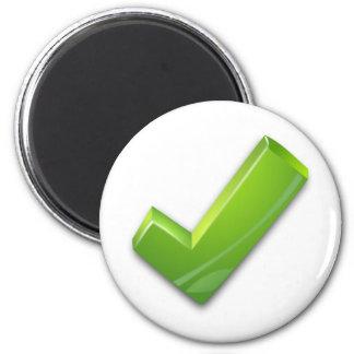 Green-Tick 6 Cm Round Magnet
