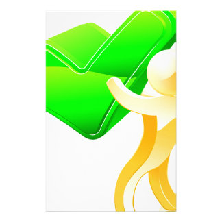 Green tick person stationery