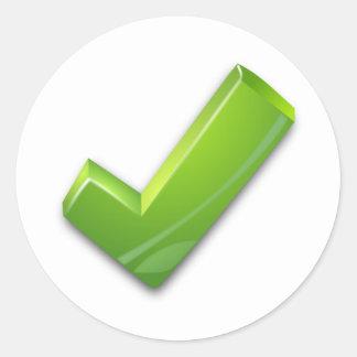 Green Tick Sticker