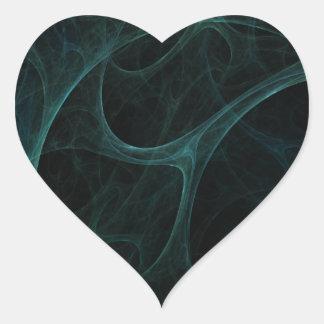 Green Tick Tock Heart Sticker