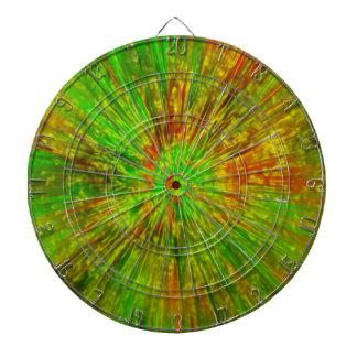 Green Tie Dye Dartboard