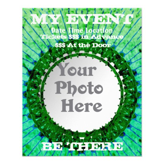 Green Tiedye Photo Event Flyers