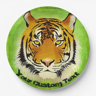 Green Tiger Paper Plates
