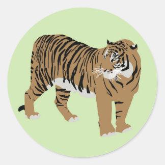 Green Tiger Sticker