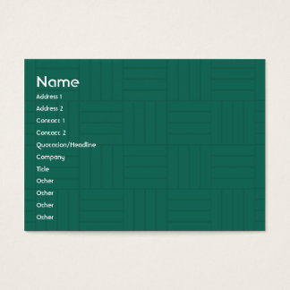 Green Tile - Chubby Business Card