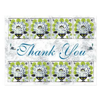 Green Tile- Thank You Postcard