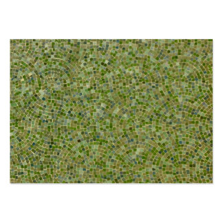 green tiles large business cards (Pack of 100)