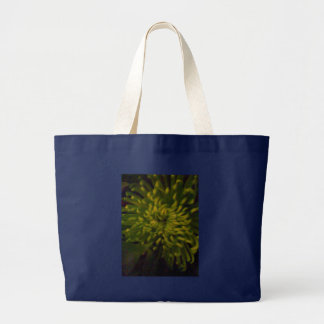 Green Tinge Chrisanthemum Large Tote Bag