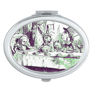 Green Tint Mad Tea Party by Tenniel Compact Vanity Mirrors