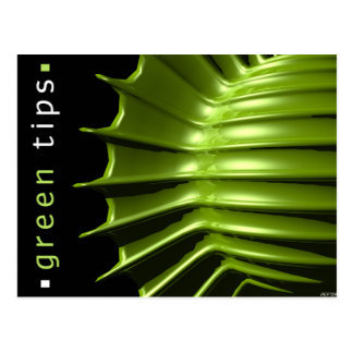 Green Tips Post Cards