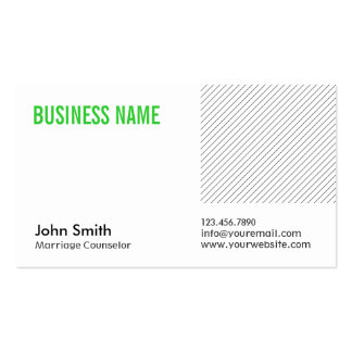 Green Title Marriage Counseling Business Card