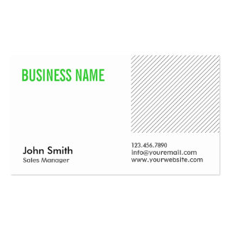 Green Title Sales Manager Business Card