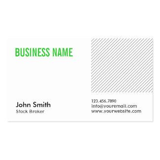 Green Title Stock Broker Business Card