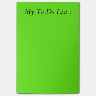 Green To Do List Post-it Post-it® Notes
