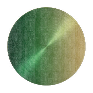 Green to Gold Ombre Gradient Design Cutting Boards