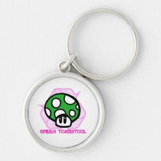 Green Toadstool Premium Key Chain