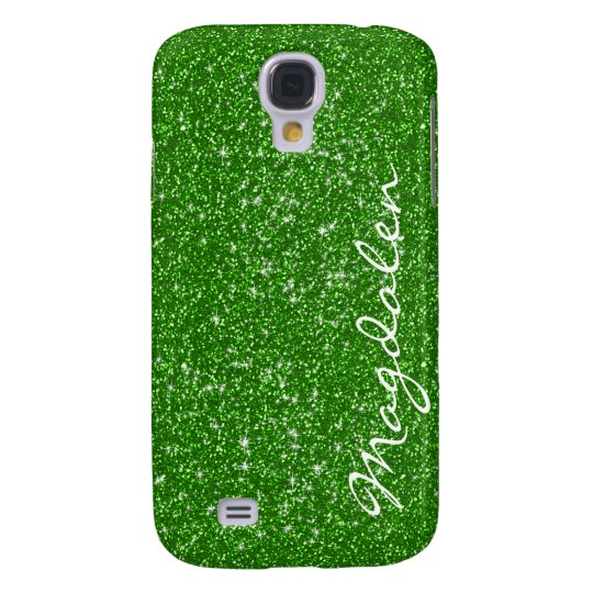 Green Tones Glitter & Sparkles Customised Galaxy S4 Case