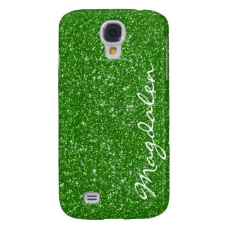 Green Tones Glitter & Sparkles Customized Galaxy S4 Case