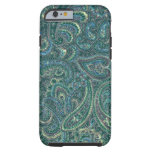 Green Tones Vintage Ornate Paisley Pattern Tough iPhone 6 Case