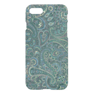 Green Tones Vintage Ornate Paisley Pattern iPhone 7 Case
