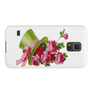 Green Top hat and roses Galaxy S5 Case
