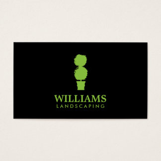 Green Topiary Plant II Landscaping Business Card