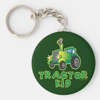 Green Tractor Kid Key Ring