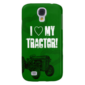 Green Tractor Love Phone Case Galaxy S4 Cover