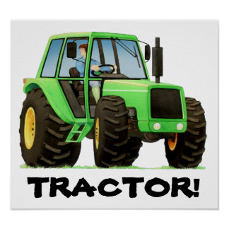 Green Tractor Posters