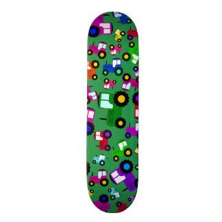 Green tractors custom skate board