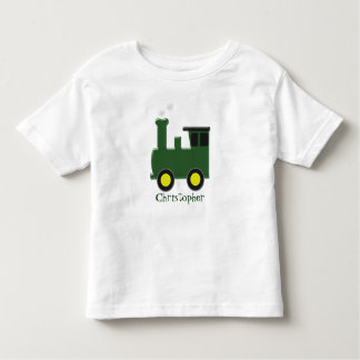 Green Train Just Add Name Toddler T-Shirt