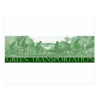 Green Transportation : Bicycles Postcard