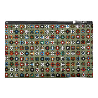"Green travelling case ""Hippie Style "" Travel Accessories Bag"