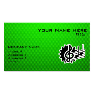 Green Treble Clef Business Card Template