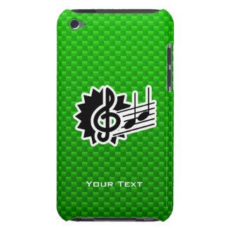 Green Treble Clef iPod Case-Mate Cases