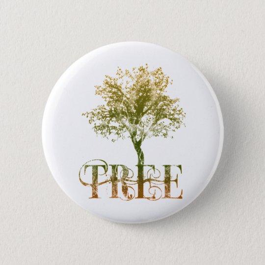 Green Tree 6 Cm Round Badge