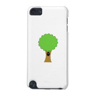 Green tree cartoon with creature iPod touch 5G case