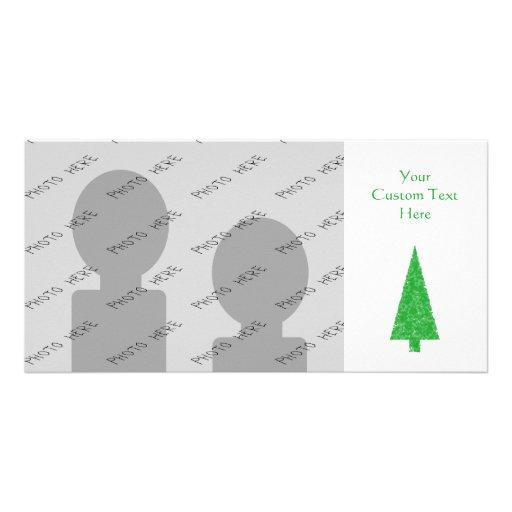 Green Tree. Christmas, Fir, Evergreen Tree. Custom Photo Card