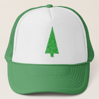 Green Tree. Christmas, Fir, Evergreen Tree. Trucker Hat