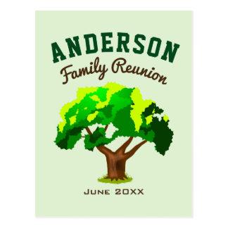 Green Tree Custom Name Family Reunion Postcard